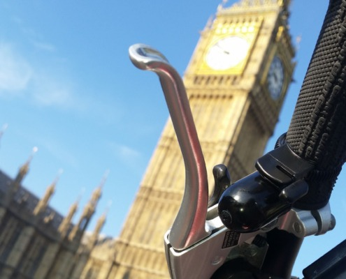 Trigger Bell A Safer Bike Bell In Front Of Big Ben In London