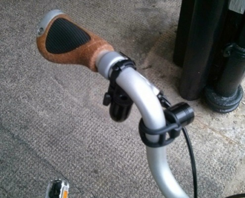 Trigger Bell Fitted On Brompton